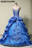 Spaghetti Straps Royal Blue Quinceanera Dress Ball Gowns 2020 Vestido De Festa 15 Anos Curto Pretty Sweet 16 Dresses
