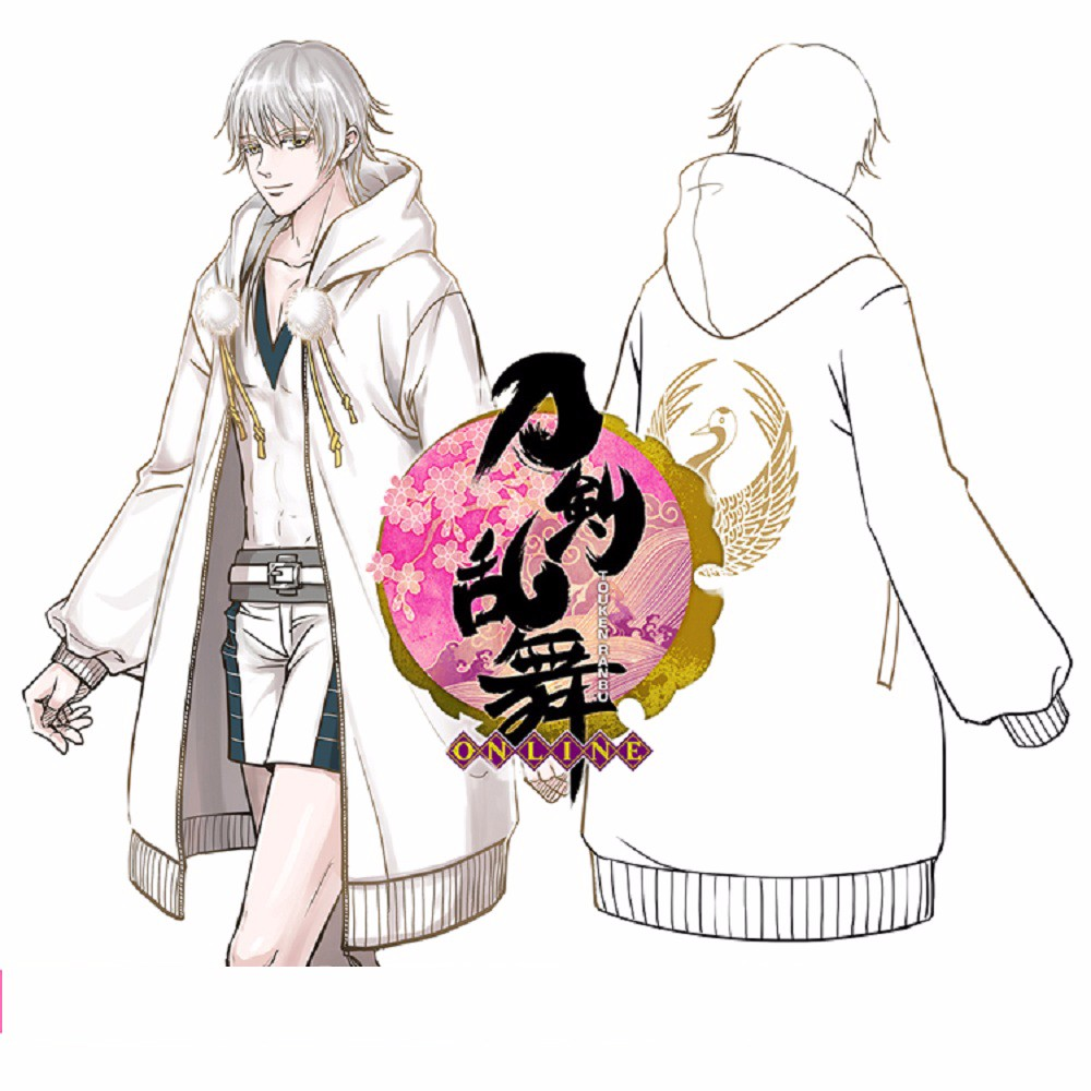Anime Touken Ranbu Online Sweatshirts Cosplay Tsurumaru Kuninaga Jckets Cotton Coats Halloween Party Animation Hoodies (2)
