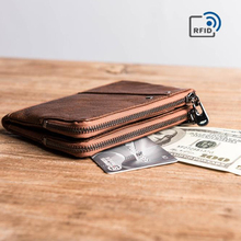 Daffdoil Handmade Genuine Leather Wallet Men Women Original Design Organ Cattle Rfid Gift