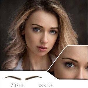Cabelo humano feito à mão sobrancelhas falsas base de renda para as mulheres para festa de casamento cosplay estrela falsa sobrancelha sintética sobrancelhas