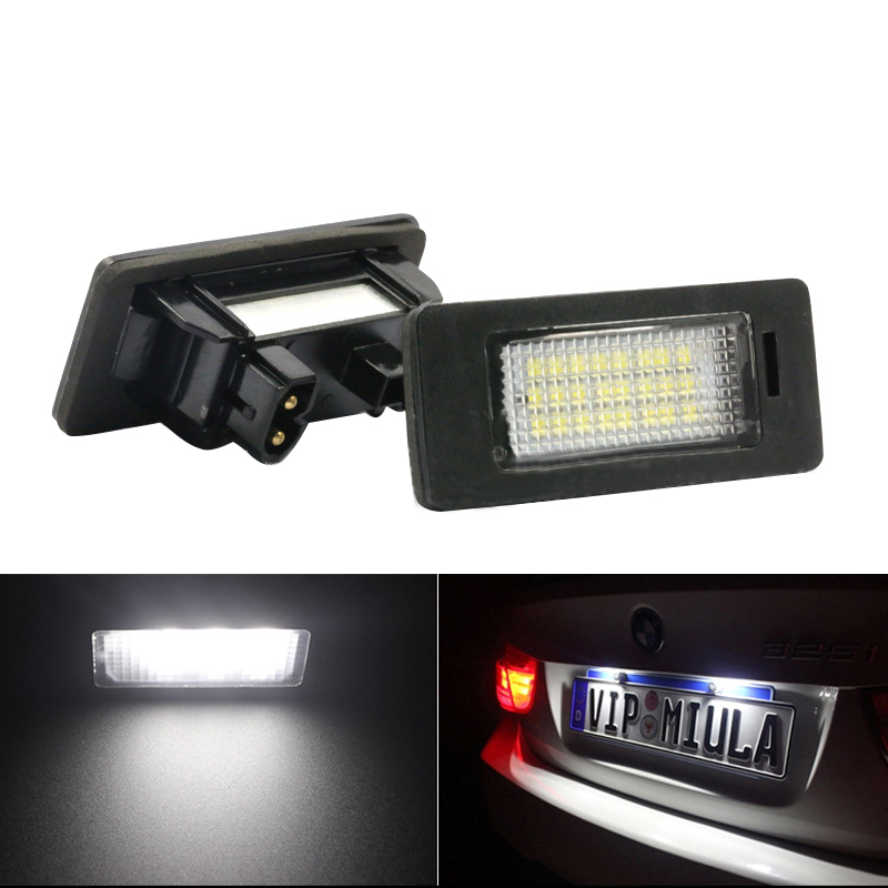 2pcs/lot white Error Free Led License Plate Light For BMW E91 E92 E93 M3 E39 M5 E82 E88 E90 E90N E60 E60N E61 E70 X5 E71 E72 X6 2pcs lot 24 smd car led license plate light lamp error free canbus function white 6000k for bmw e39 e60 e61 e70 e82 e90 e92
