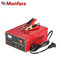 Monfara 12V 24V Full Automatic Intelligent Car Battery Charger Pulse Repair Type for Lead Acid Auto Motorcycle Truck 100AH 10A