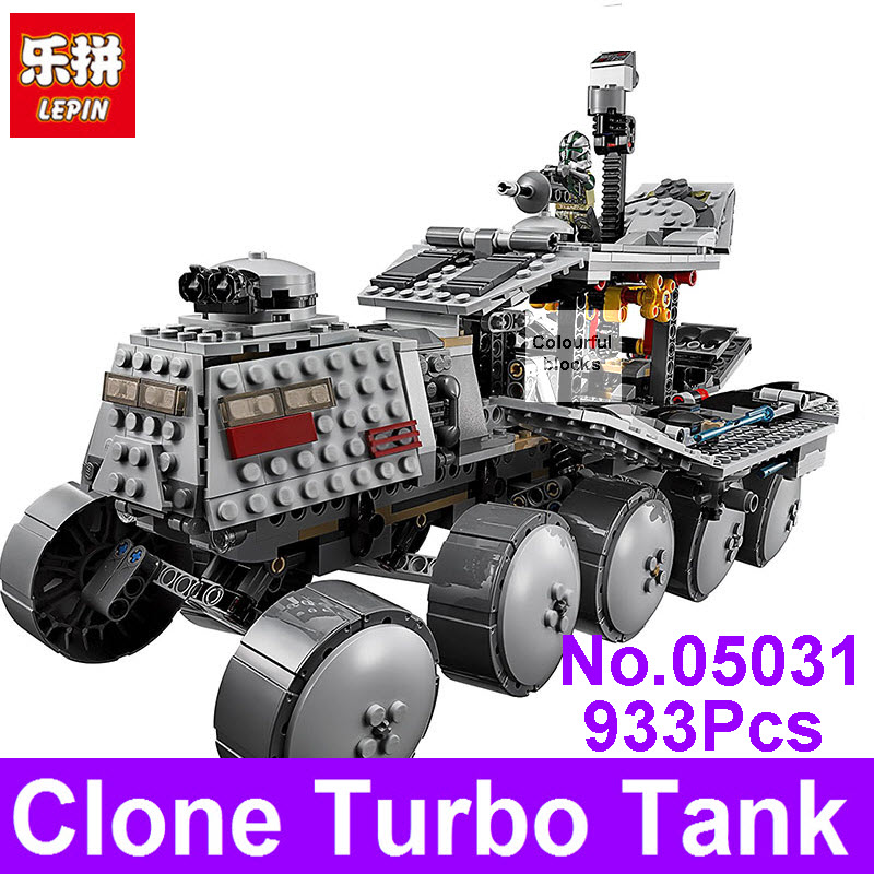 LEPIN 05031 933Pcs Star Clone Wars Turbo Tank Model Building Blocks Bricks Compatible 75151 DIY Children Educational Toys Gift military star wars spaceship aircraft carrier helicopter tank war diy building blocks sets educational kids toys gifts legolieds