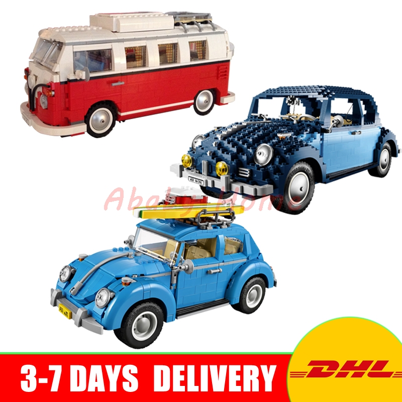 2018 DHL In Stock LEPIN 21001+ 21003+ 21014 Technic Series Set Model Building Kits Block Bricks Toy Gift Clone 10220 10252 10187 new lepin 21003 series city car beetle model educational building blocks compatible 10252 blue technic children toy gift