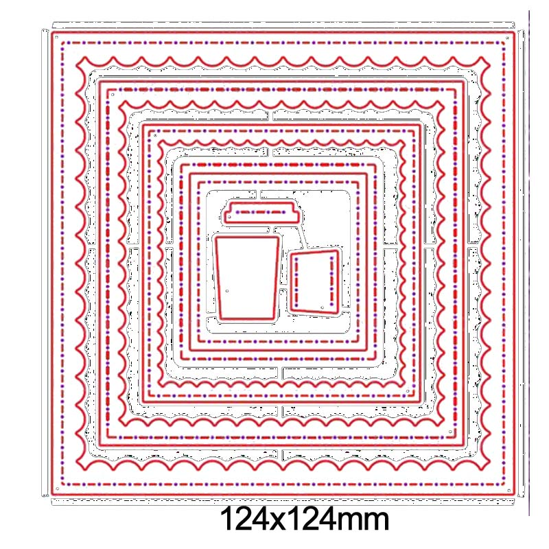 DIY 7Pcs Metal Oval Cutting Dies Stencils Scrapbook Embossing Photo Card Frame