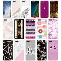 8 case cover for huawei Y6 2018 case back cover full 360 protective soft tpu sillicone Coque cute