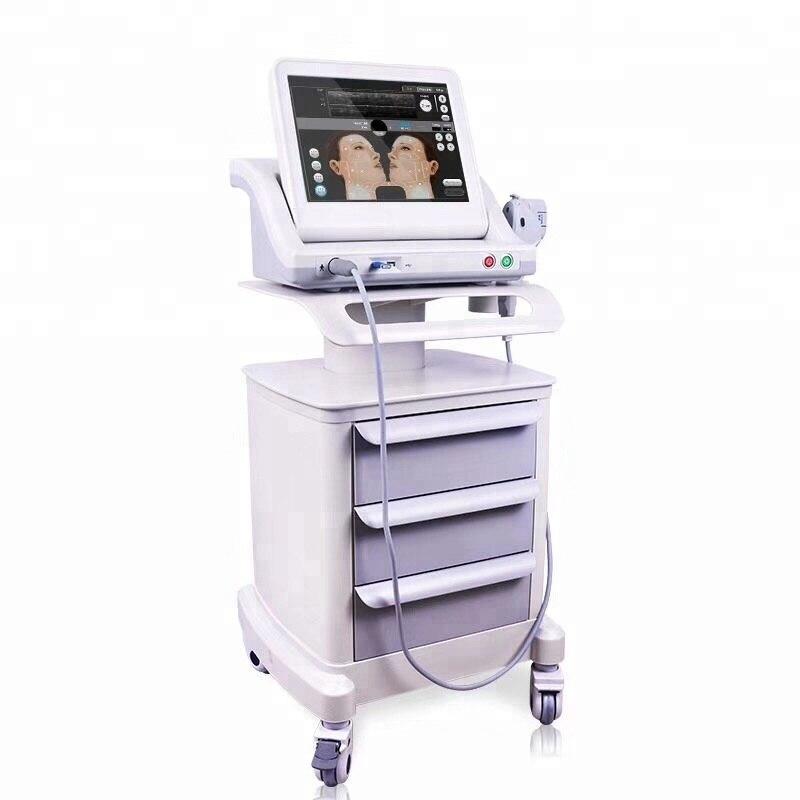 O envio gratuito de máquina hifu lifting facial e corporal 5 cartuchos para salão de beleza/novo portátil hifu corpo facial e rosto