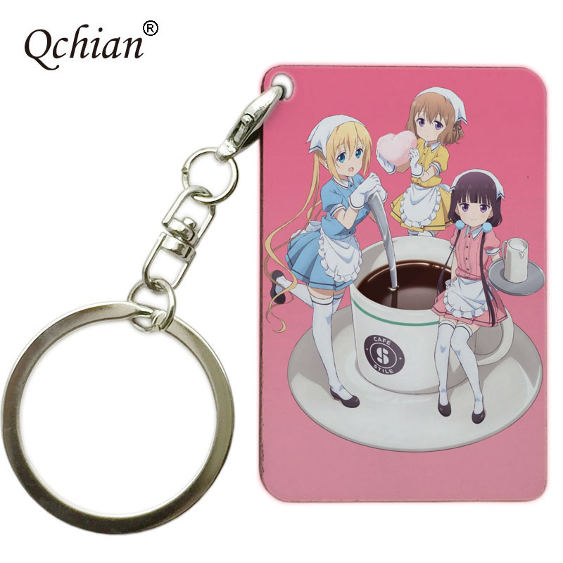 Sakuranomiya Maika Blend S Keychain Blend S Stile Cafe Sadistic Maid Uniform Key Chains Ring Holder
