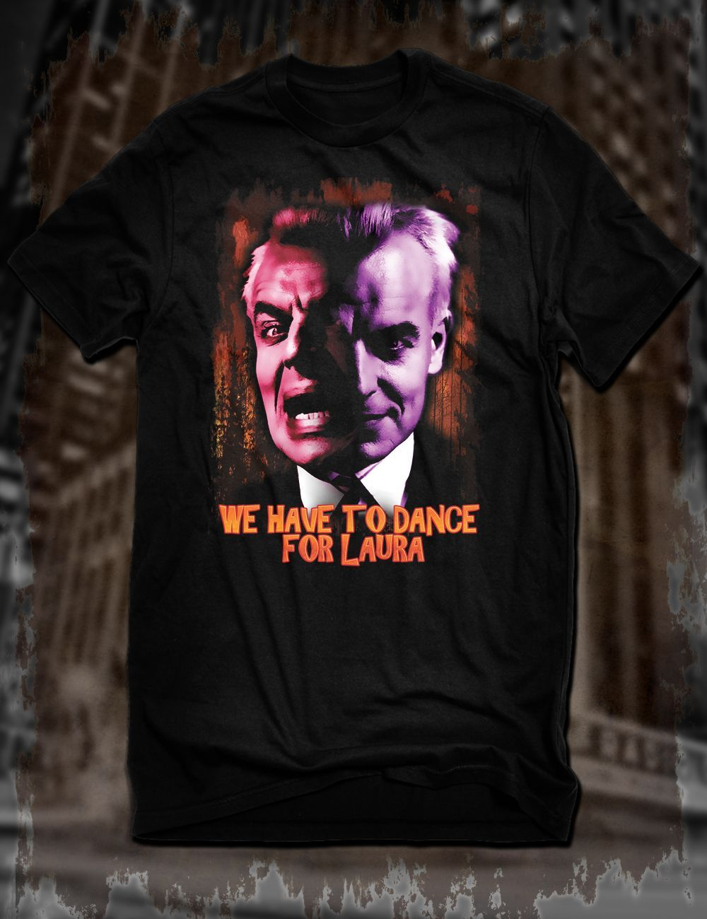 New Black Twin Peaks Leland Palmer T-Shirt Ray Wise Killer Bob David Lynch Tee