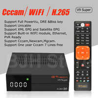 Freesat V7 HD CCcam Satellite Receiver +1 Year Europe Spain CCam 7 Cline  Server+1 USB WIFI DVB-S2 Receptor Satellite HD Receiver