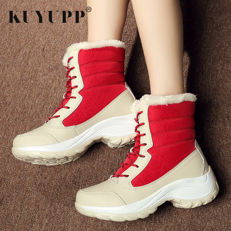 Mid-Calf Ladies Winter Shoes Fur Snow Winter Boots Thicken Warm Botas Size 9.5 Wedges Platform Cotton Women Boots Blue KBT1083 цена