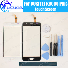 OUKITEL K6000 Plus Touch Screen Panel 100% Guarantee Original Glass Panel Touch Screen Glass Replacement For K6000 Plus+Gifts
