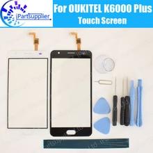 Oukitel k6000 plus painel da tela de toque 100% garantia original substituição vidro da tela de toque para k6000 plus + presentes