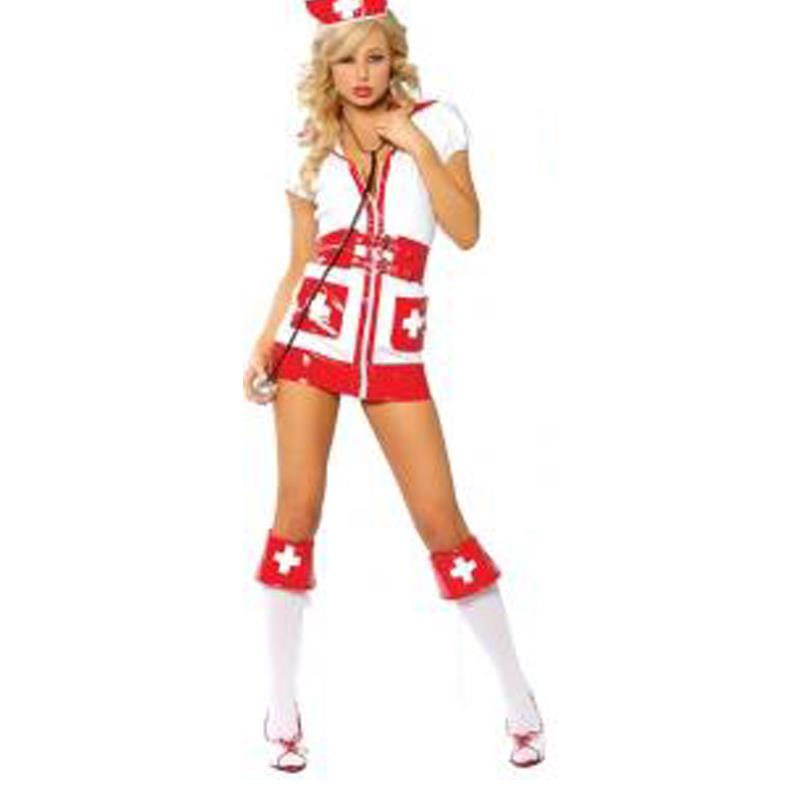 Nurse Cosplay Fancy Dress Sexy Nurse Halloween Costume Sexy Flirty Nurse Costume W248155