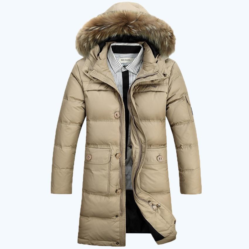 2016 Fur Collar Winter parkas Men Thick Long Parkas Coat Size M-XXXL 280