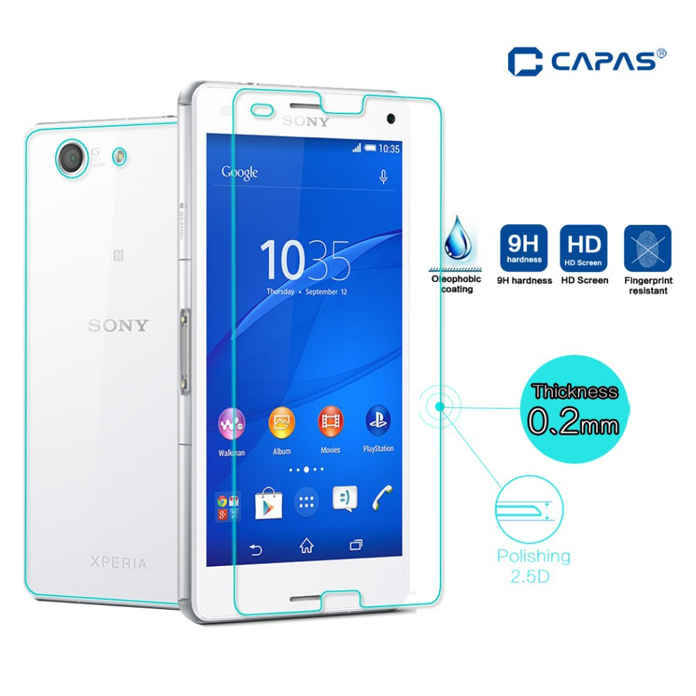 Cameron Tempered Glass Sony Xperia Z1 Mini Compact Anti Gores Kaca Full Body For Z3 Screen Protector Front Back Explosion Proof Film
