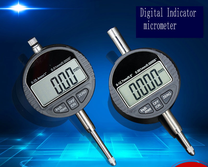 0-25.4mm Digital micron thickness gauge tester meter micrometer caliper gauge measuring tools 0.001mm  thickness gauge deep throat measuring caliper 0 10 120mm depth