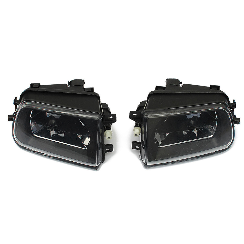 2x Front Driving Bumper Fog Light Lamp For BMW E39 528i 540i Z3 1997-2000 Black high quality 1pair bumper driving fog light lamp lens for bmw e39 5 series 525i 530i 540i 4door 2001 2002 2003 car accessory q35