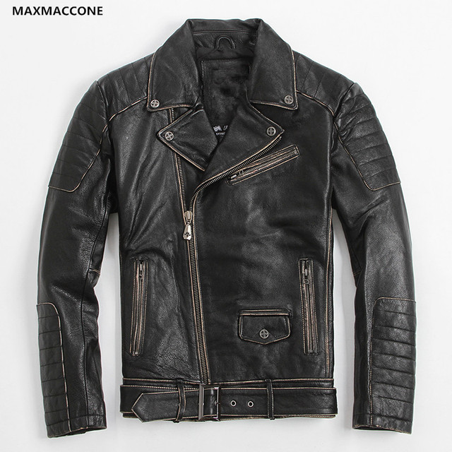 Black skull motorcycle jacket