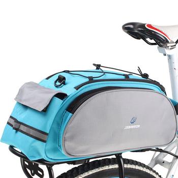 2018 13L torba na rower wielofunkcyjny rower ogon tylna torba siodełko torba rowerowa torebka na ramię Bicicleta zwieszony kosz torba na bagażnik tanie i dobre opinie Bicycle Bag Rack Bag Trunk Bag Poliester cycle zone Z pokrywką Black Seat Pannier Rack Bag 40x16x21cm Around 13L 600D Polyester