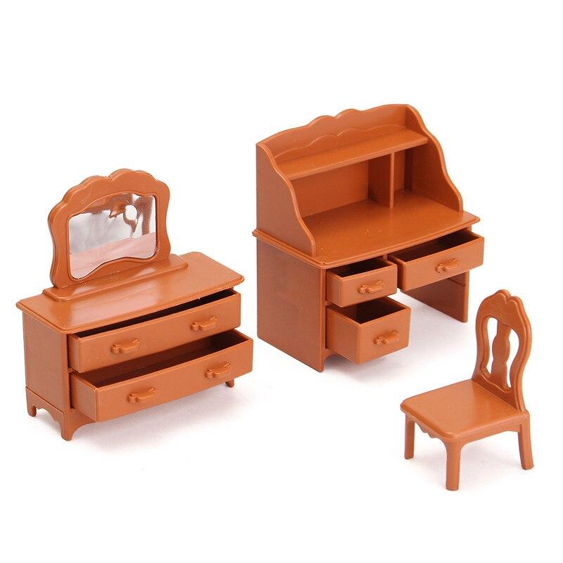 New-Vintage-Miniature-Bedroom-Furniture-Set-Dresser-Desk-Mirror-Furniture-Toys-Set-for-Kids-Christmas-Gift-Dollhouse-Accessories-2