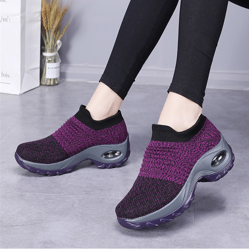 628d120d22 Explosion models large size women's sneakers air cushion woven ...