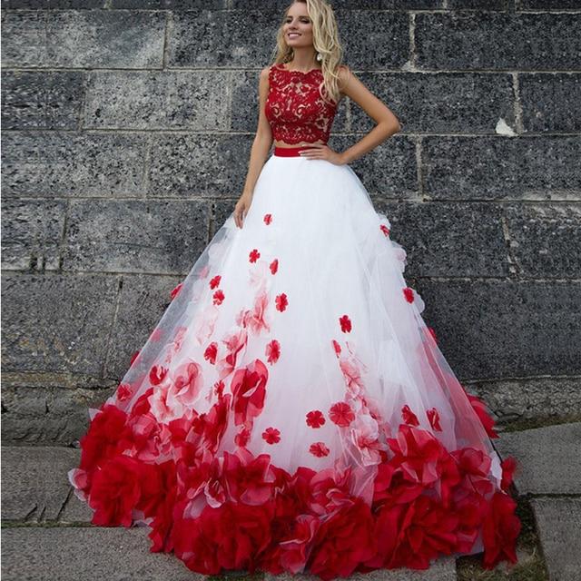 1e7c30f1f2 Vestidos para novia blanco con rojo - Vestidos caros 2019
