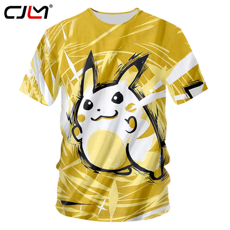 47423f32 CJLM Pokemon Shirt 2018 Summer Tops Men 3d Funny Print Anime Tshirts Casual Short  Sleeve Hip