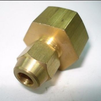 Flare Tube OD 6mm x M14x1.5mm female Brass Flare Male Connector Tube Pneumatic Fitting with Short Flare Nut фото