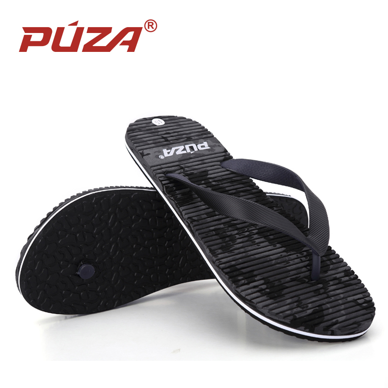 Puza New 1 Pair Summer Soft Men Flat Wedge Sandals Thong -9416