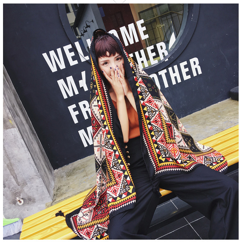 New Fashion women Scarves cotton and linen pashmina paisley Bandana sun block outsize Shawls summer beach scarf 180*95cm