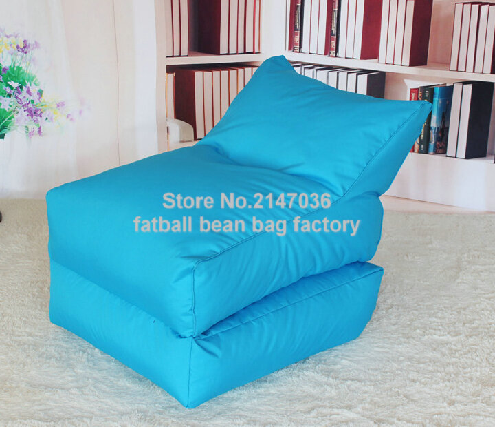 Aqua blue folding bean bag chair, Outdoor garden beanbag sofa seat furniture, Portable Hammock,foldable sofa seat two room seat people outdoor bean bag furniture large size beanbag sofa chair blue float lounger on water