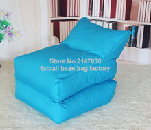 Aqua blue folding bean bag chair, Outdoor garden beanbag sofa seat furniture, Portable Hammock,foldable sofa seat