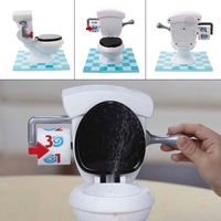 HBB 1PC Hilarious Board Toilet Game With Flush Sound Effects Kids Child Novelty Gag Toys Baby Gifts