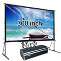 Huge Picture Screen 300 Diagonal 16:9 HD Wide Projection Screens Flexible For Outdoor Theater Hotel