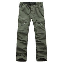 Men Quick Dry Outwear Pants Removable FishingHikingCampingSport Breathable Pants Mens UV Protection Pant Active army Trousers