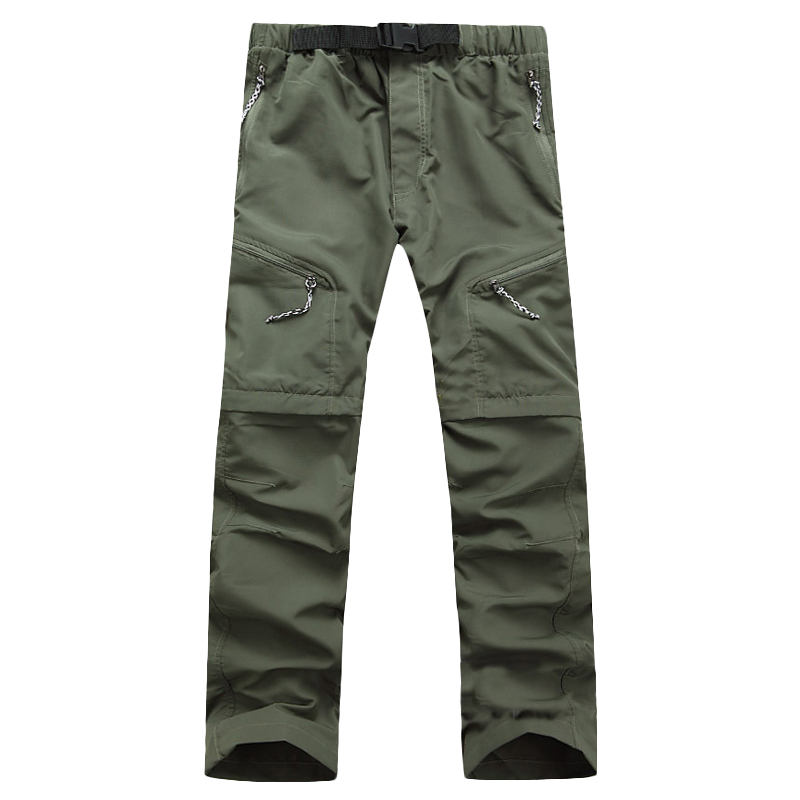 Men Quick Dry Pants 2017 New Style Men Pants Removable Long Trousers Male Quick Dry Breathable