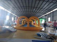 New Giant Inflatable Slide PVC Movable inflatable water park for Entertaining with water slide frame pool water games Slide