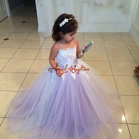 Lavender purple Flower Girl Dresses for wedding Ball Gowns first communion dresses for girls lace up back pageant dresses цена