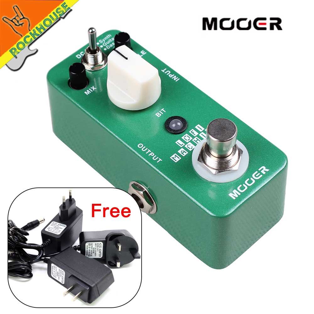 MOOER Lofi Machine Guitar Effects Pedal Wide Range Sampling rate/depth Bass Guitar Synth True Bypass Free Shipping synth