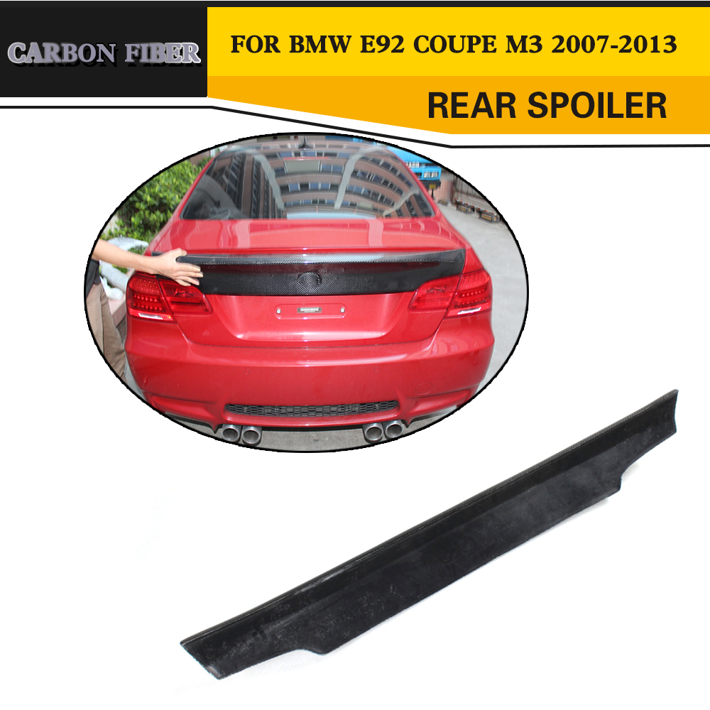 E92 Coupe 328i 335i M3 CSL Style carbon fiber rear Trunk Spoiler Wing Lip,Auto Car Wing Spoiler For BMW (Fit 2007-2