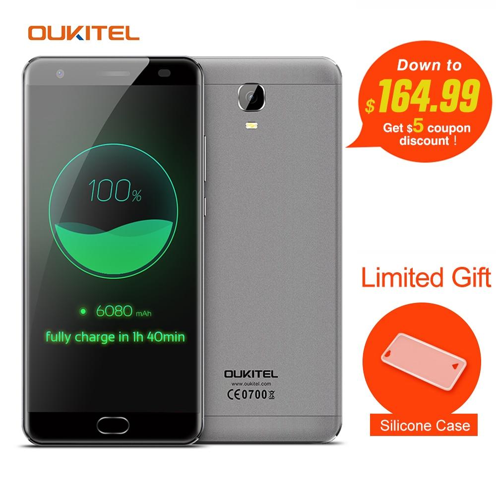 Цена за Oukitel k6000 плюс 4 г мобильный телефон 5.5 ''android 7.0 mtk6750t Octa Ядро 1.5 ГГц 4 ГБ RAM 64 ГБ ROM 8.0MP + 16.0MP 6080 мАч Сенсорный TD