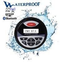 Морской Водонепроницаемый Bluetooth стерео радио аудио FM AM приемник Автомобильный MP3-плеер USB звук Системы для мотоцикла лодка SPA UTV ATV