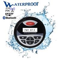 راديو استريو بلوتوث مقاوم للماء ، راديو FM AM ، مستقبل صوت ، مشغل MP3 للسيارة ، نظام صوت USB للدراجات النارية ، قارب ، سبا ، UTV ، ATV