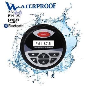 Image 1 - Marine wodoodporne Radio Stereo Bluetooth Audio FM AM odbiornik samochodowy odtwarzacz MP3 USB nagłośnienie dla motocykli łódź SPA UTV ATV
