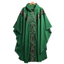 Robe déglise catholique pour prêtre, vêtements de clergé, avec tige du pape, Costume de chaquable
