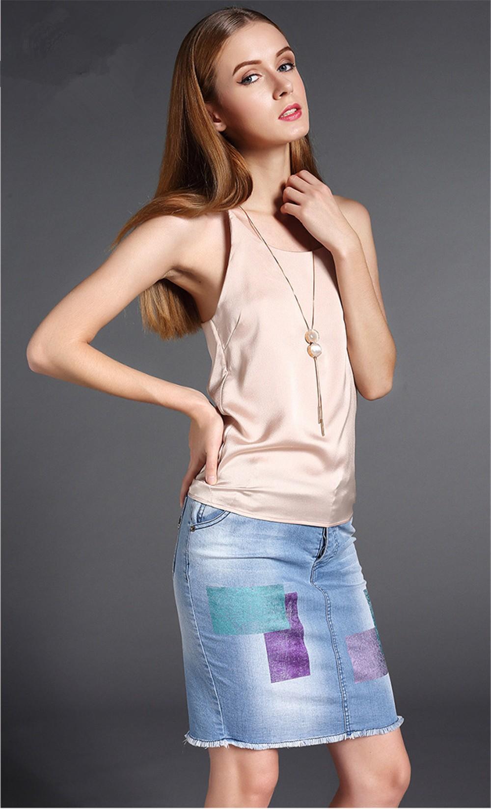 Plus Size S-4XL Multiple Women Tank Tops Brand Silk Blending Sleeveless Tshirt Women Female Shirt Smooth Blouse Blusas Femininas (13)