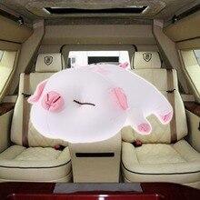 Мультфильм свинья автомобиль домашний бамбуковый уголь сумка плюшевая кукла Игрушка Декор