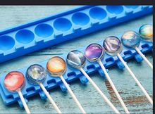 Wholesale ,free shipping,10 hole Starsilicone lollipops mold / Crystal 3D jelly pudding mould baking tools