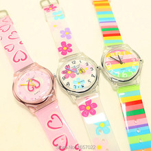 Luxurious model ladies man vogue&informal rainbow shade wristwatches youngsters coronary heart flower waterproof watches Xmas reward watch